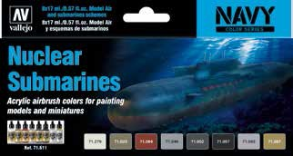 Nuclear Submarines Navy Colors Model Air Paint Set (8 Colors)