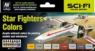 Star Fighter Sci-Fi Colors Model Air Paint Set (8 Colors)