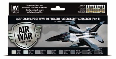 USAF Colors Post WWII to Present Aggressor Squadron Part 2 Model Air Paint Set (8 Colors)