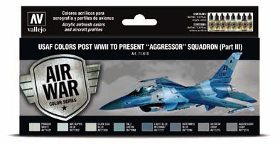 USAF Colors Post WWII to Present Aggressor Squadron Part 3 Model Air Paint Set (8 Colors)