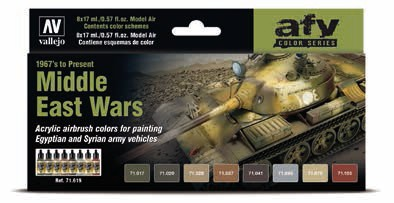 Middle East Wars 1967s to Present Model Air Paint Set (8 Colors)