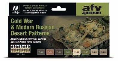 Cold War & Modern Russian Desert Patters Model Air Paint Set (8 Colors)