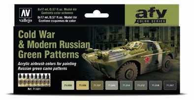 Cold War & Modern Russian Green Patters Model Air Paint Set (8 Colors)