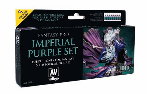 Imperial Purple Tones Nocturna Fantasy-Pro Paint Set (8 Colors)