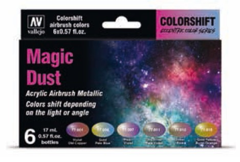Magic Dust Colorshift Metallic Paint Set (6 Colors)
