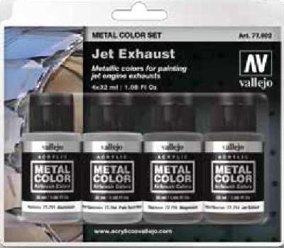 Jet Engine Exhaust Metal Color Paint Set (4 Colors)