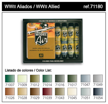 WWII Allied Forces Model Air Paint Set (16 Colors)