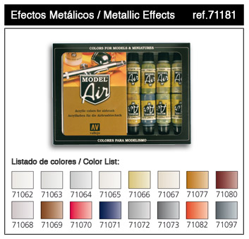 Metallics Model Air Paint Set (16 Colors) - ONLY 2 AVAILABLE AT THIS PRICE