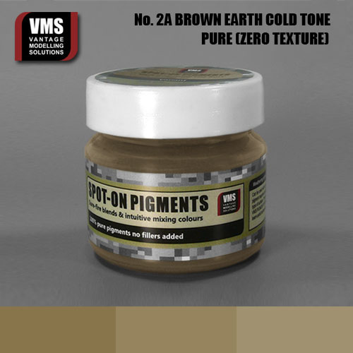 Spot-On Pigment- European Brown Earth Cold Tone Pure Pigment