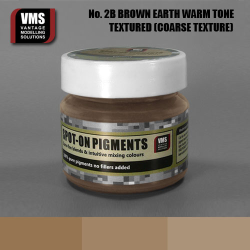 Spot-On Pigment- European Brown Earth Warm Tone Coarse Texture Pigment