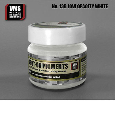 Spot-On Pigment- Low Opacity White Pure Pigment