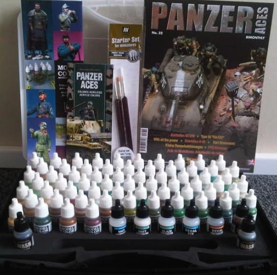Vallejo Panzer Aces Paint Range Gift Box Set With Carry Case