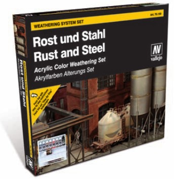 Vallejo Rust and Steel Acrylic Colors Weathering Set
