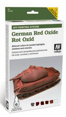 Vallejo AFV Armour Painting System: German Red Oxide Camouflage Colors Set