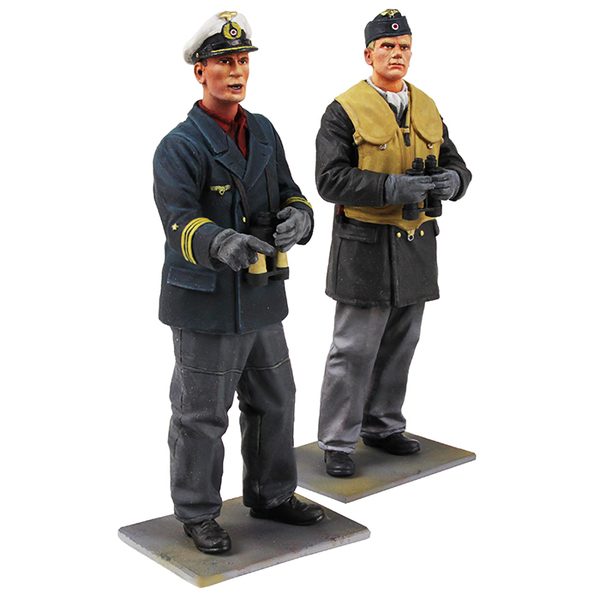On Watch, German U-Boat Crewman and Captain, WWII