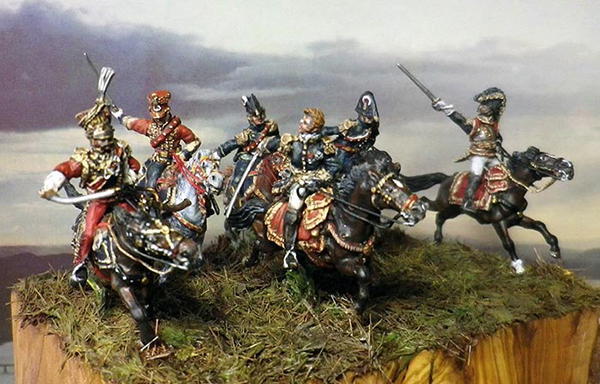 French High Staff Charge At Waterloo