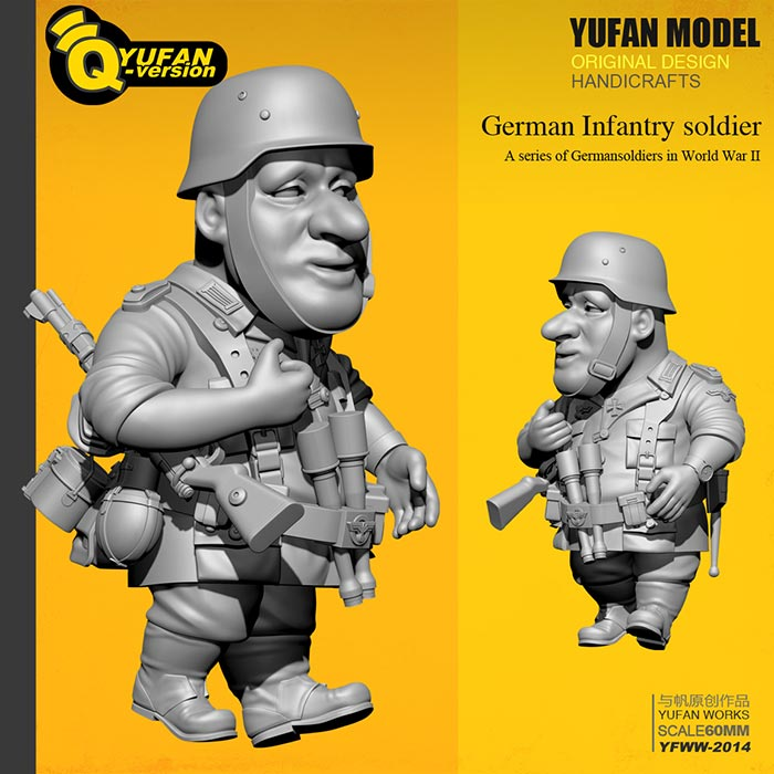 WWII German Infantryman - Toon Q Version