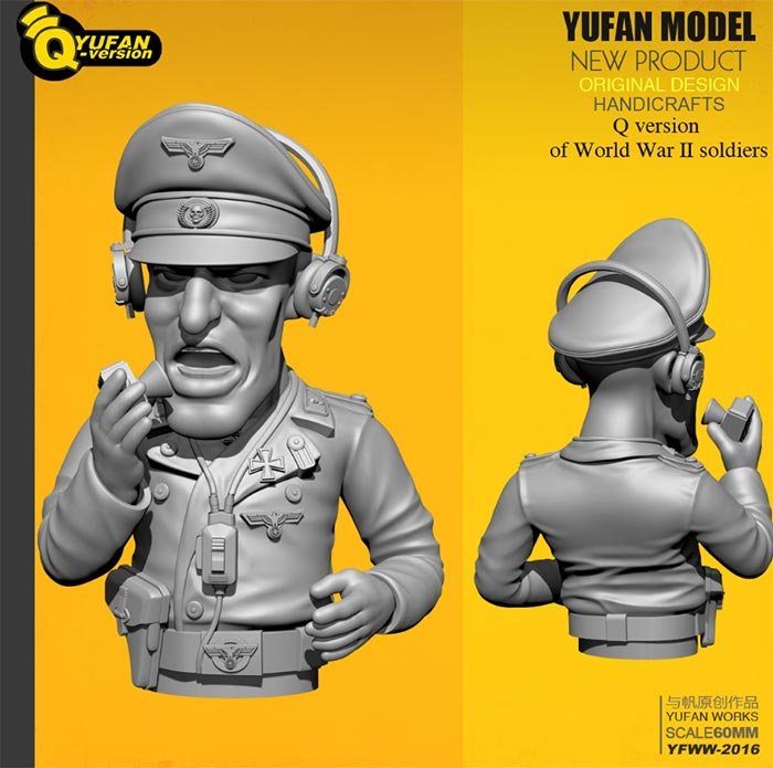 WWII German Panzer Commander - Toon Q Version