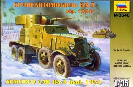 Soviet BA3 Mod. 1934 Armored Car