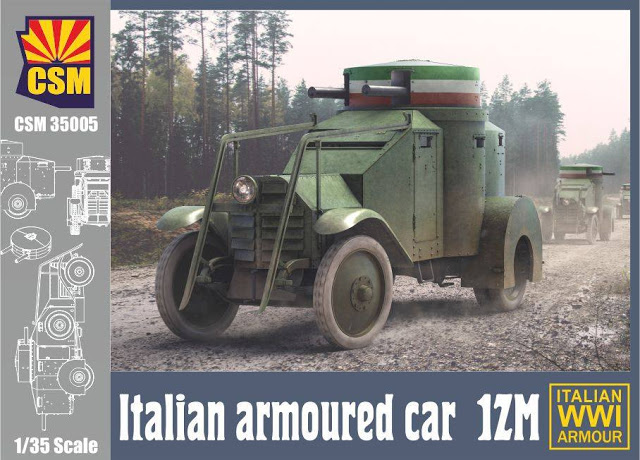WWI ITALIAN ARMOURED CAR LANCIA 1ZM
