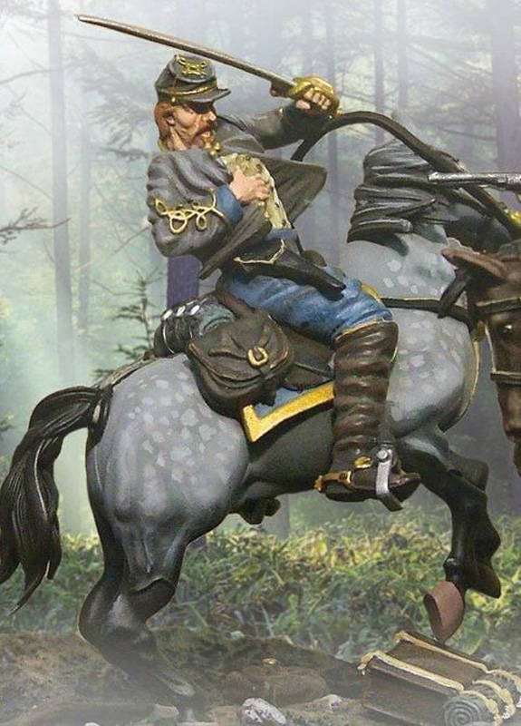 CSA MOUNTED CAPTAIN LATANE #CS00330-1 AVAILABLE OOP