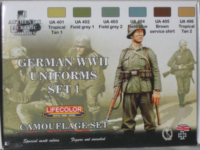 World War II Camouflage German Uniforms Set #1 Acrylic Paint Set