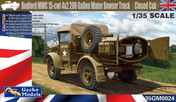 Bedford MWC 15cwt 4x2 200 Gallon Water Bowser Truck Closed Cab