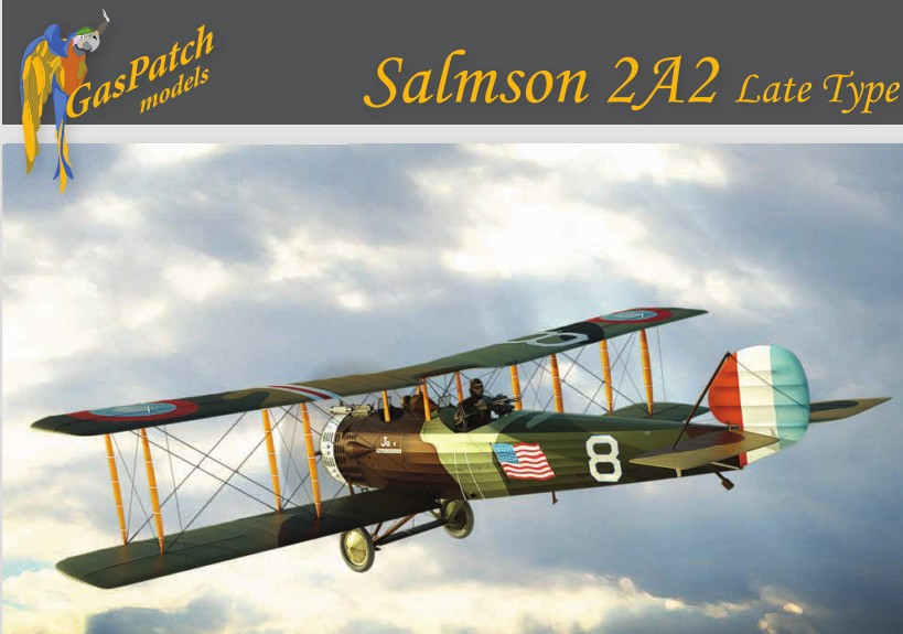 WWI Salmson 2A2 Late Type 2-Seater Biplane Fighter w/US, Polish, French markings