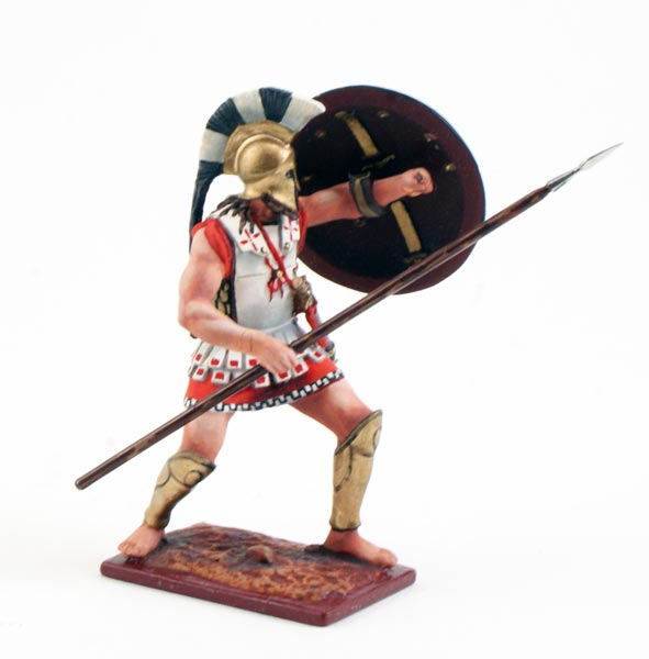 Greek Spartan Defending With Spear And Shield 3819