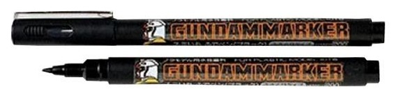 Gundam Brush Type Black Acrylic Paint Marker