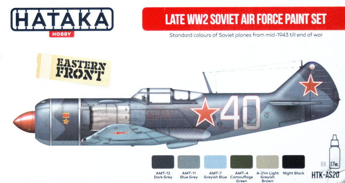 Red Line: Late WW2 Soviet Air Force Paint Set(6 Colors) Optimized For Airbrush