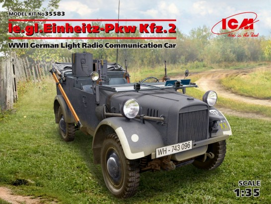 WWII German le.gl.Einheitz PkwKfz 2 Light Radio Car