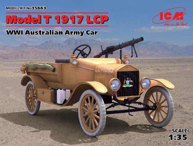 WWI Australian Model T 1917 LCP Army Car