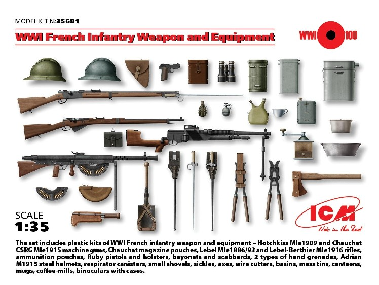 WWI French Infantry Weapons & Equipment