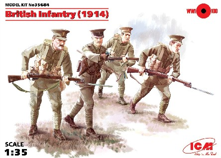 WWI British Infantry w/Weapons 1914 (4)