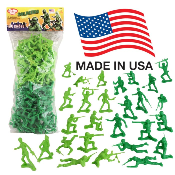 Timmee Plastic Army Men: Green Vs Tan