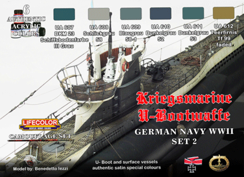 World War II Camouflage German Kriegsmarine Set #2