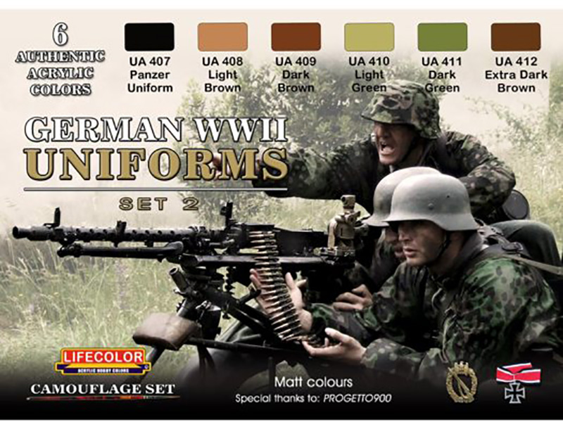 World War II Camouflage German Uniforms Set #2 Acrylic Paint Set