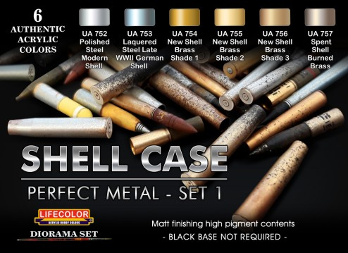 Shell Case Perfect Metal #1 Diorama Acrylic Set (6 22ml Bottles)