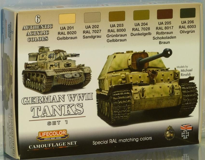 World War II Camouflage German Tanks Set #1 Acrylic Paint Set