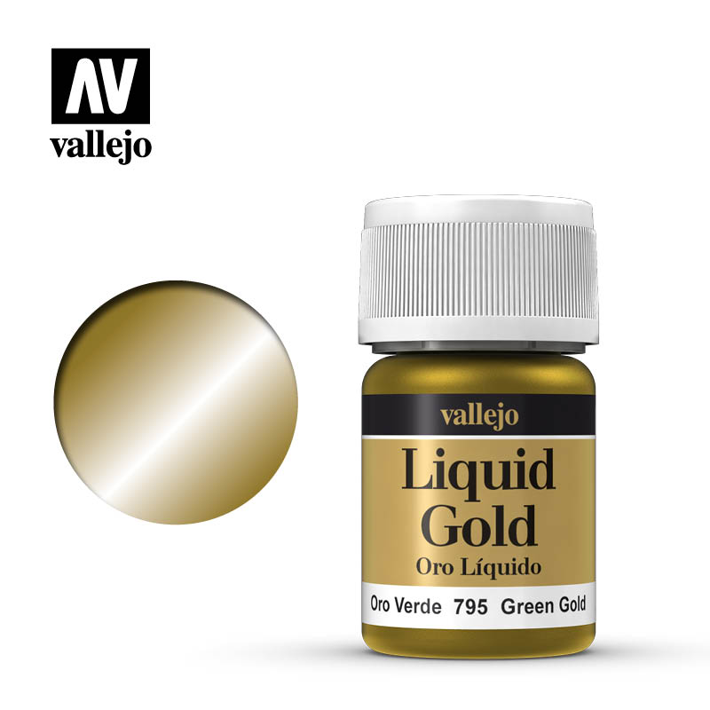 Alcohol Based Metallic Green Gold 35ml Bottle 216