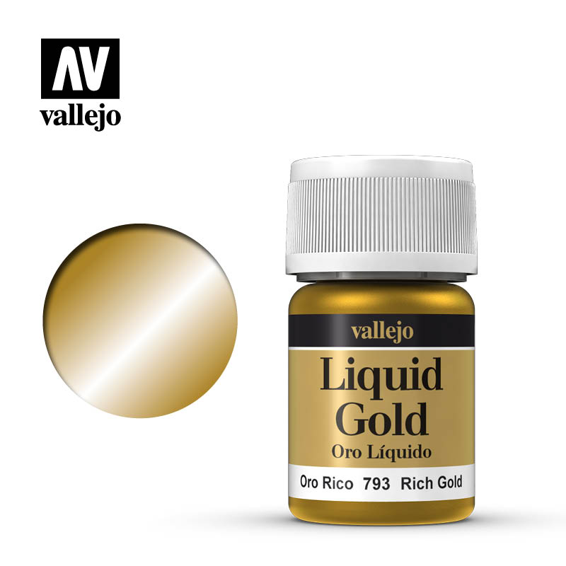 Alcohol Based Metallic Rich Gold 35ml Bottle 214