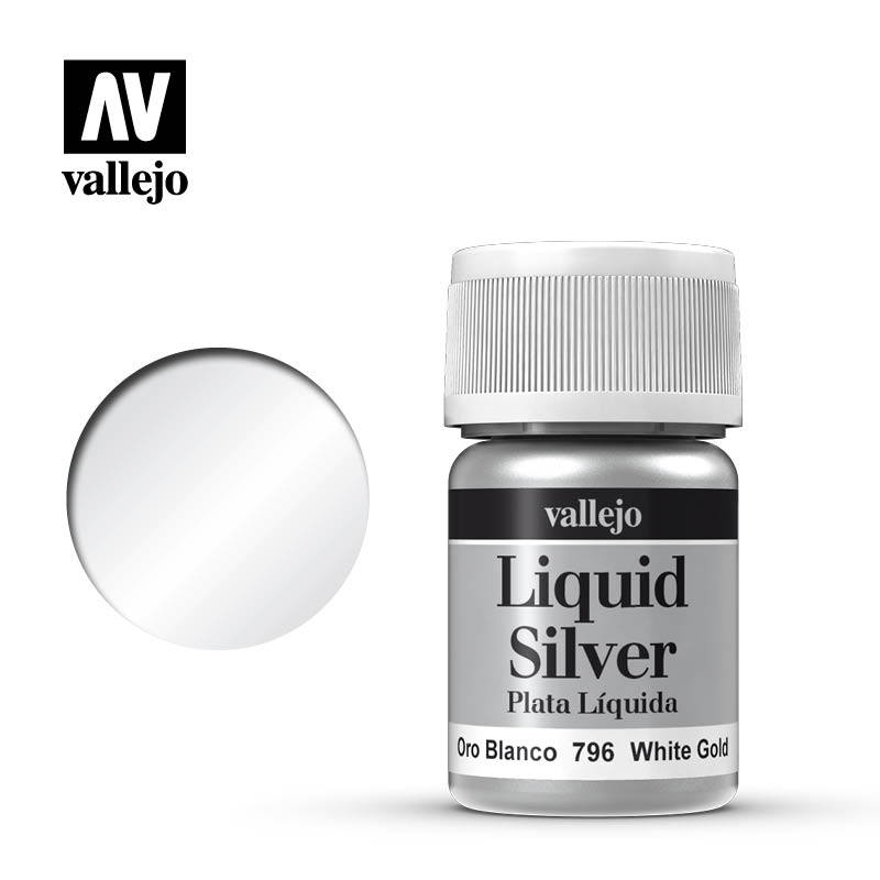Alcohol Based Metallic White Gold 35ml Bottle 217