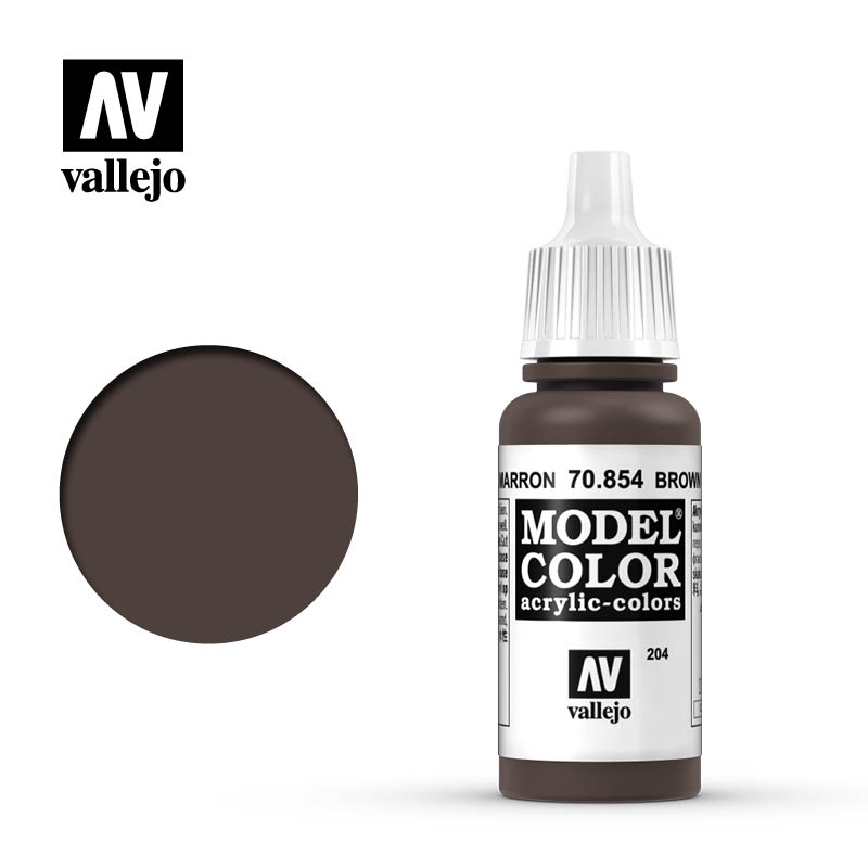 Model Color Brown Glaze 204