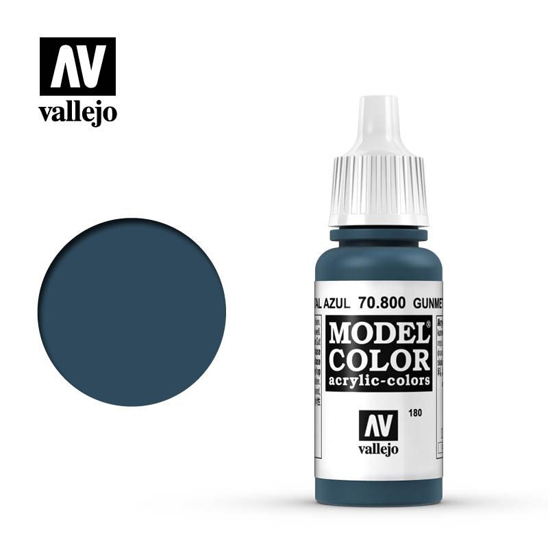 Model Color Metallic Gunmetal Blue 17ml Bottle 180