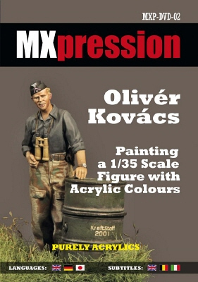 Painting a 1/35 Scale Figure with Acrylic Colors - MXpression DVD