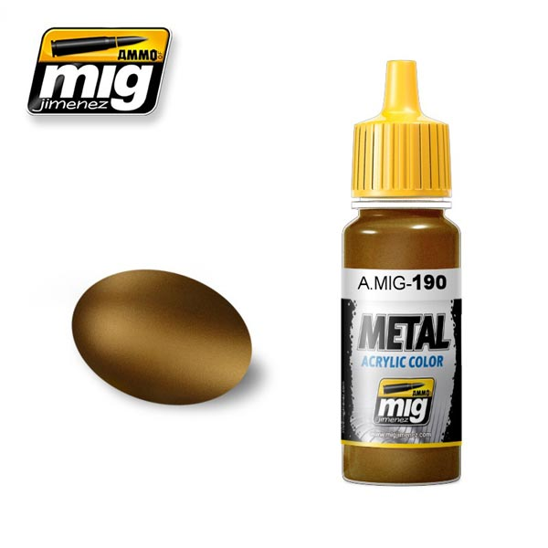 Old Brass Acrylic Metallic Paint 17ml
