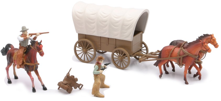 Western Covered Wagon Set