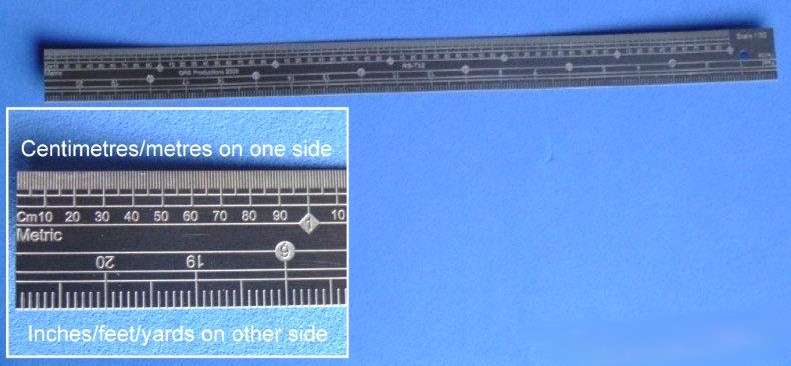 1/32 Scale Stainless Steel Ruler