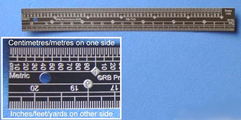 1/35 Scale Stainless Steel Ruler